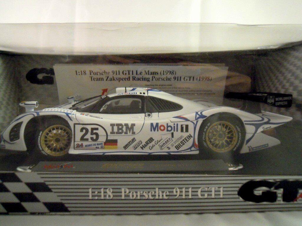 Rare Maisto Porsche 911 Gt1 Le Mans Gt Racing Car 1 18 Scale In