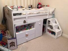 Children's Bed with storage and desk.
