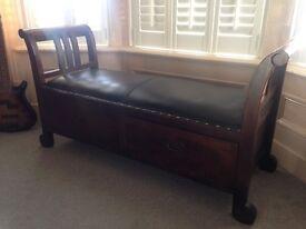 Wooden Sleigh seat