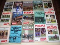 15 x HORSES IN TRAINING BOOKS - DATE RANGE IS FROM 1977 TO 2005 *VGC*