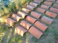Dutch Red Clay Ridge Tiles for Pantile Roof - handmade, reclaimed