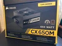 Corsair CX650M 650W Semi-Modular ATX 80 PLUS Bronze Power Supply -UNTESTED
