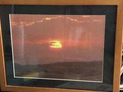 Dale Earnhardt Framed # 3 in the Sky Clouds RCR Enterprises Nascar
