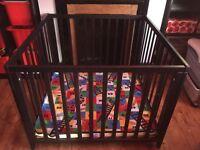Black baby dan wooden playpen