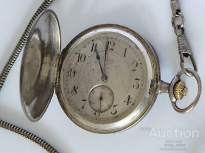 OMEGA 1900 Antique Sterling Silver Mechanical Men's Pocket Watch 14Jew