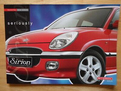 DAIHATSU Sirion orig 2001 UK Market sales brochure