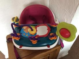 Mamas & Papas - Pink, Baby Bud booster seat / highchair & play / activity tray