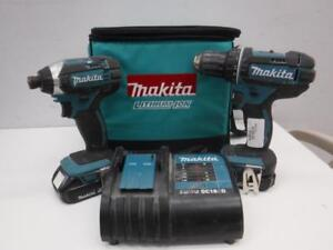 Makita Drill/Driver Combo Kit (2 Batt. + Charger/Bag) - We Buy and Sell Pre-Owned Tools - 117485 - NR1113405
