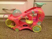 my littlest pet shop hamster and car