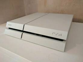 PS4 glacier white with controller