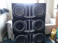 SUB WOOFERS 20 AVAILABLE INCLUDING JL AUDIO, ROCKFORD FOSGATE JBL & VIBE