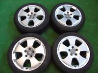 "AUDI S LINE, VW SHARAN, PASSAT, GOLF MK5, TOURAN, CADDY, T4, 17"" ALLOY WHEELS"
