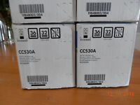 HP laser toner ink for HP model CP2025- unopened genuine toner cartridges.