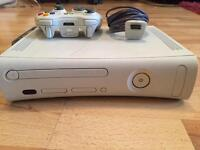Xbox 360 two controllers and charger