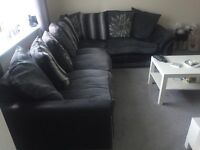 Grey Corner Couch & Swivel Chair