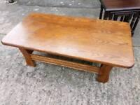 Heavy oak coffee table