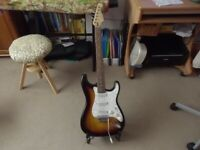 Electric Guitar-Cruiser by Crafter-Stratocaster style(Sunburst) c/w tremolo arm and gig bag