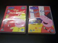 2 x Peppa Pig DVDs The Fire Engine and Peppas Circus