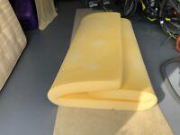 Kingsized memory foam mattress topper
