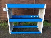 Van Shelving / Racking - 2 Shelves - Very Good Condition - Includes Bracket - Small To Medium Van