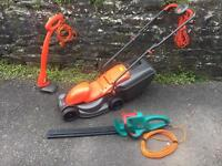 Mower strimmer and hedge cutter