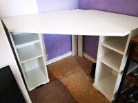 Corner Desk with shelving