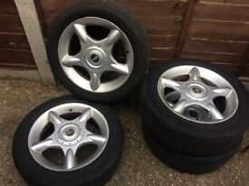 4 16inch Mini Wheels and Tyres