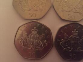 Various Rare and Collectable 50p Coins