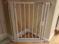 Clippasafe, metal, pressure fit, and extendable swing shut gate 72.5-95cm