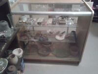 Vintage glass shop counter / display case