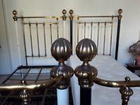 Beautiful antique brass beds, large single