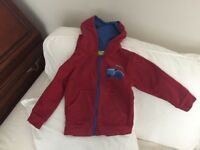 Mountain warehouse red tractor hoodie age 3-4