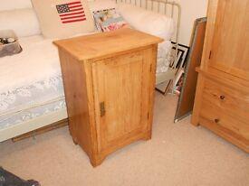 vintage pitch pine cupboard mid size 3 shelves original lock & key