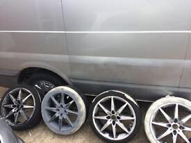 "17"" 4 stud alloys. Wants gone"