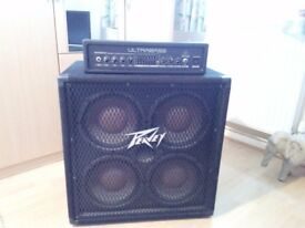 Peavey 410 TX amp and Ultrabass Amp head!