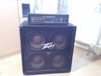 Peavey 410 TX amp and Ultrabass Amp head!