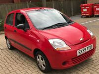 2009 CHEVROLET MATIZ 0.8 S PETROL MANUAL 5 DOOR HATCHBACK 5 SEAT MOT CHEAP INSURANCE N CORSA KA CLIO