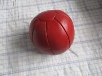 Weight Ball Red Leather 3 lbs SK Sport Equipment