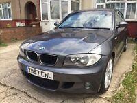 2007 BMW 1 SERIES 118D DIESEL M SPORT 3 DOOR HATCHBACK