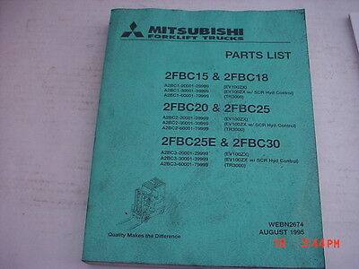 Mitsubishi Forklift Service Manual Parts List Webn2674 Dated 895