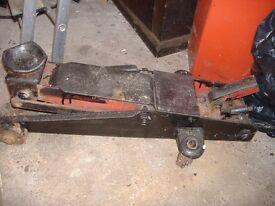old large hydraulic car trolley jack