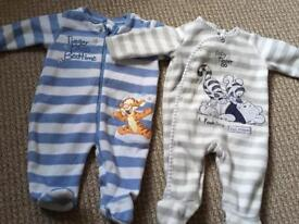 Baby Boys sleepsuits 0-3 months