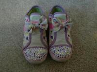 Skechers light up trainers kids size 11
