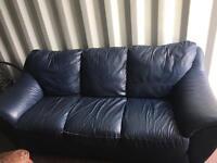 3 Seater dark blue sofa (free)