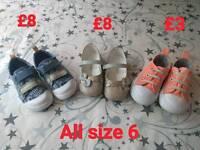 Girls footwear. All size 6