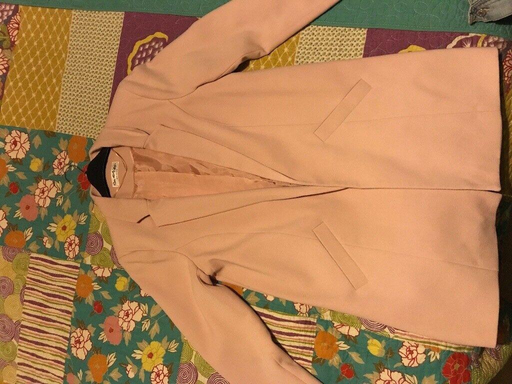 Unused Miss Selfrige nude pink longline jacket size 12
