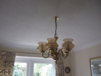 5 arm Brass Ceiling light.
