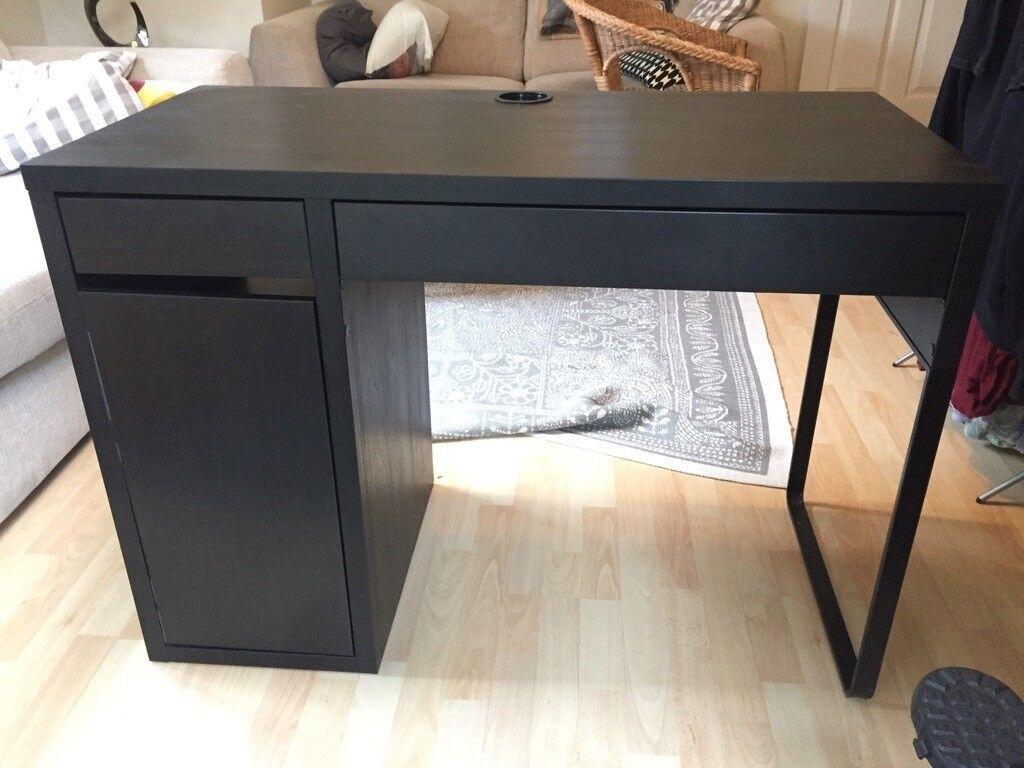 Sold ikea micke desk black brown fully assembled