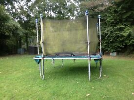 Large Alloy framed kids trampoline.