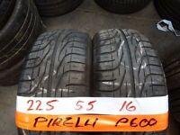 matching pair 225 55 16 pirellis 6mm tread £50 pair supp & fittd (LOADS MORE AV SUNDAY 5PM)